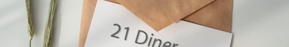 21 diner uitnodiging